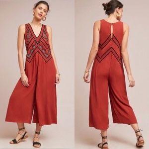 Anthropologie Meave Desert Embroidered Jumpsuit